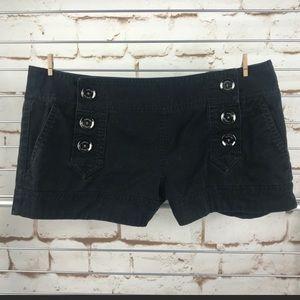 🌻 Sz 6/Jean Shorts Denim Sailor Front Six Button